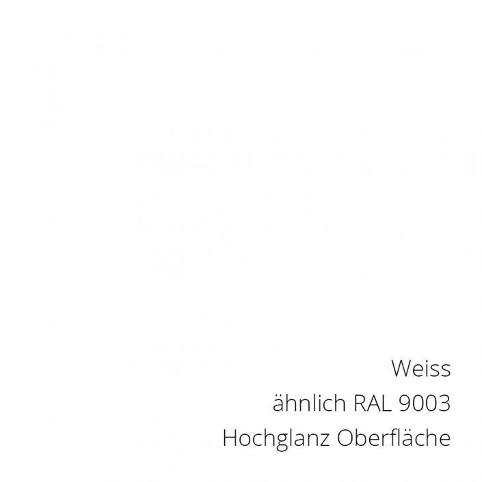 Coexweiss RAL 9003 PS-Material von mentec®