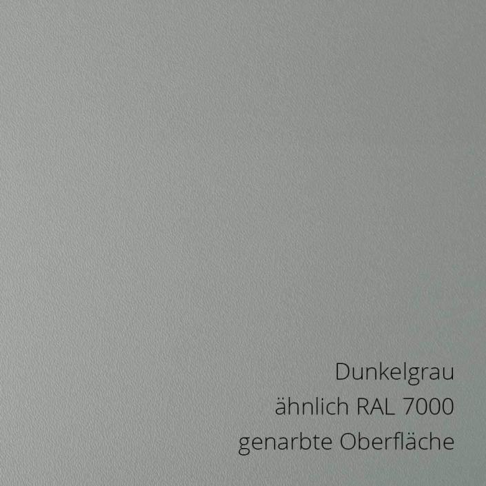 Dunkelgrau ähnlich RAL 7000 PS-Material von mentec®