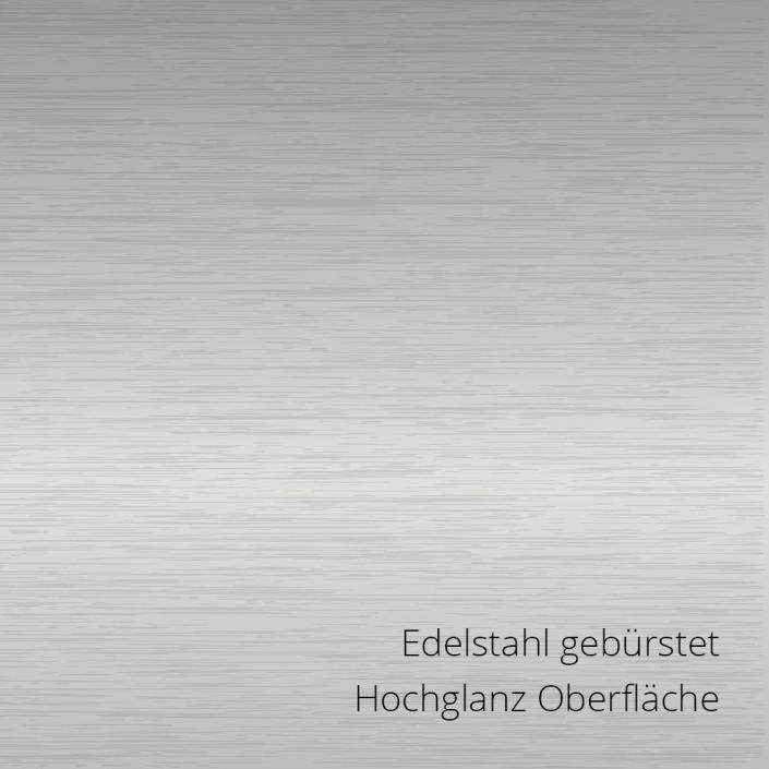 Edelstahl gebuerstet PS-Material von mentec®