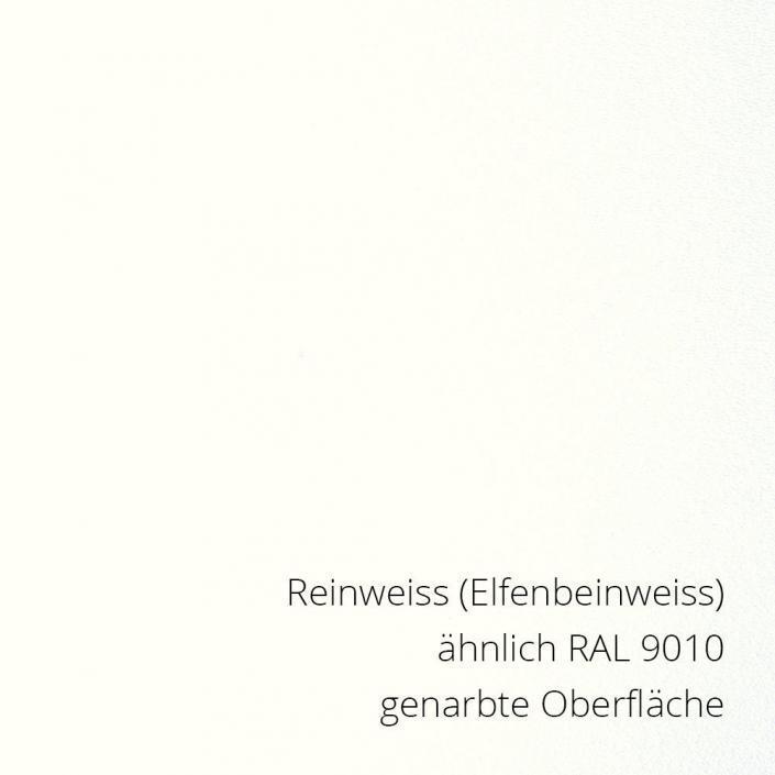 Reinweiss RAL 9010 PS-Material von mentec®