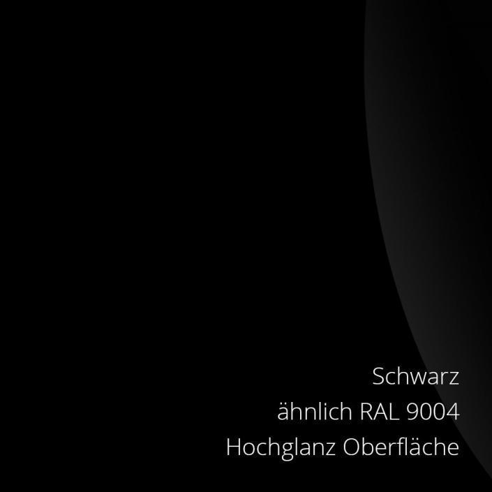 Schwarz Hochglanz RAL 9004 PS-Material von mentec®