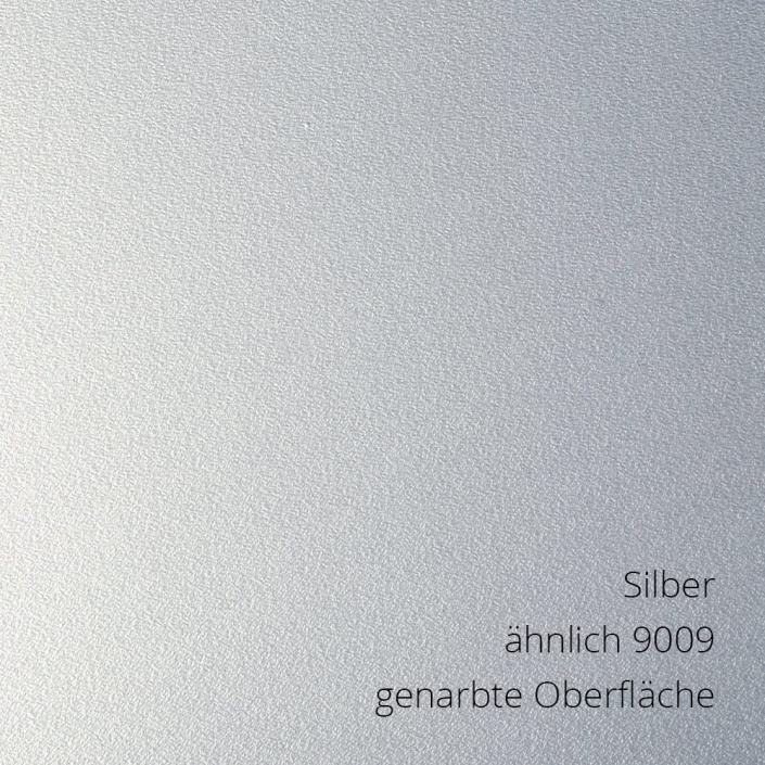 Silber RAL 9009 genarbt PS-Material von mentec®