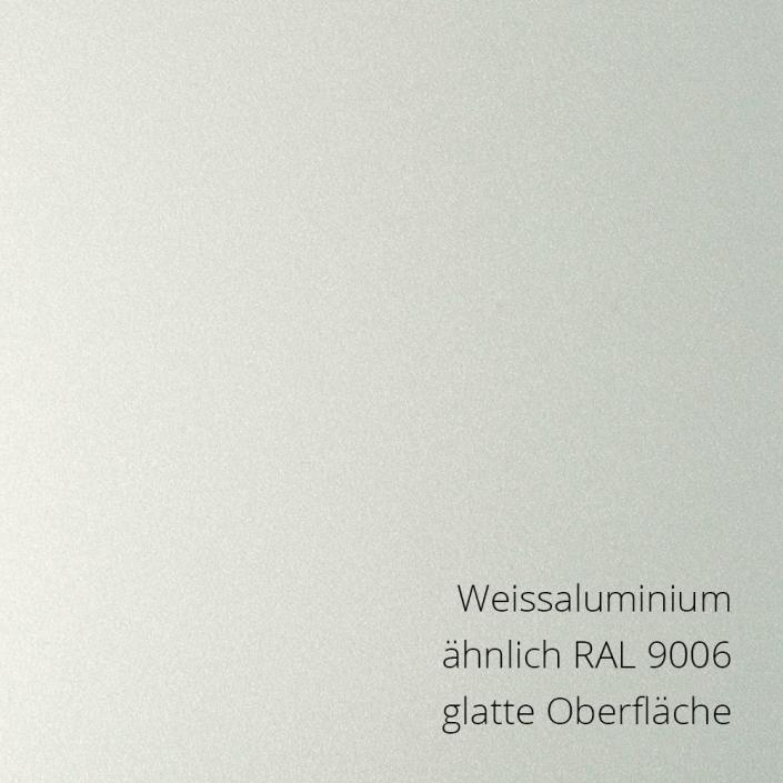 Weissaluminium RAL 9006 glatt PS-Material von mentec®