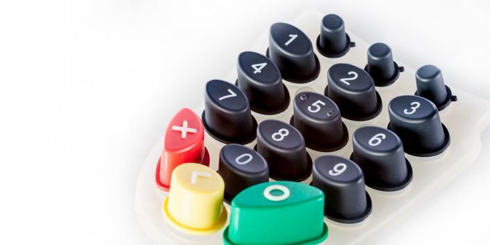 Silikonschaltmatte mehrfarbig Taster von mentec®