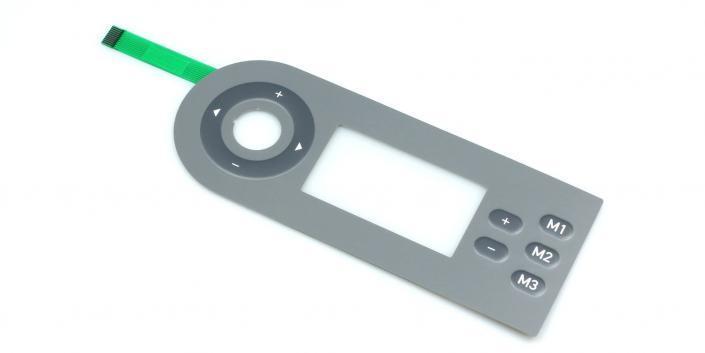Folientastatur mit Sichtfenster von mentec®