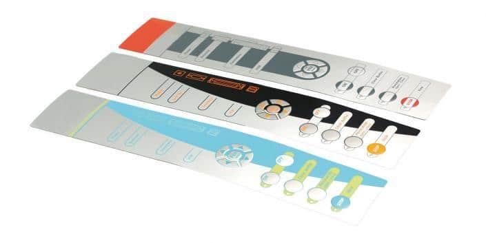 Folientastatur mehrfarbig bedruckt von mentec®