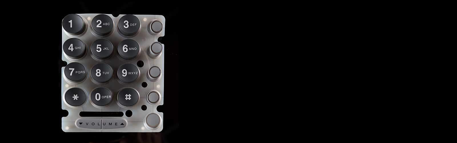 Silikontastatur Ziffernblock durchleuchtend von mentec®