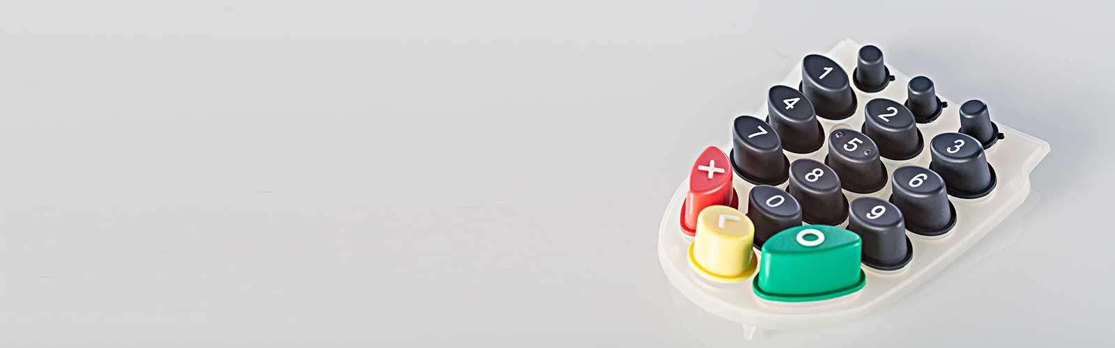 Silikontastatur Ziffernblock mehrfarbig von mentec®
