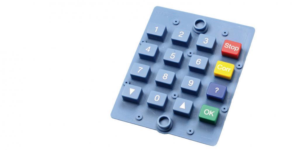 Silikontastatur blau farbig von mentec®