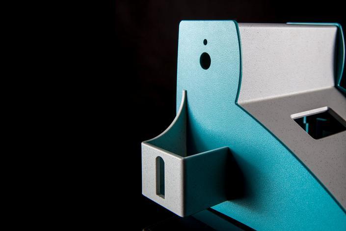 Kunststoffgehäuse Details mit Oberfläche Granito von mentec®