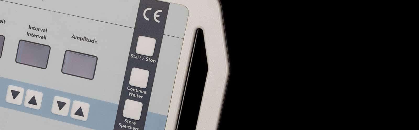 Folientastatur auf tragbarem Kunststoffgehäuse von mentec®