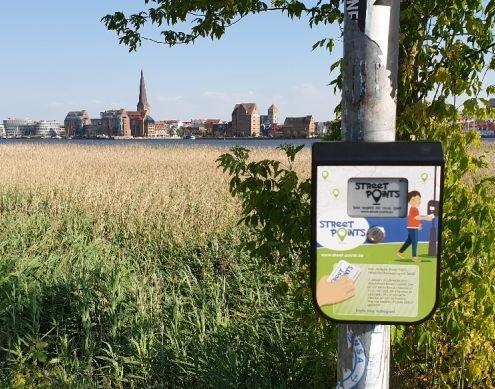 Streetpoints Laufspiel - das Kunststoffgehäuse